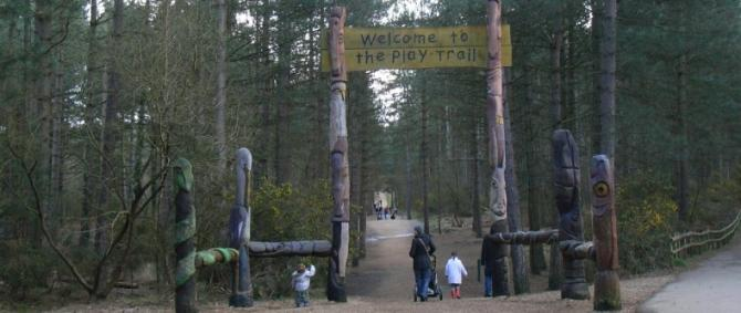 The Play Trail at Moors Valley Country Park