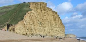 East Beach & Sandstone Cliffs, West Bay