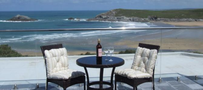 Luxury apartments with panoramic sea views here in the Newquay area.