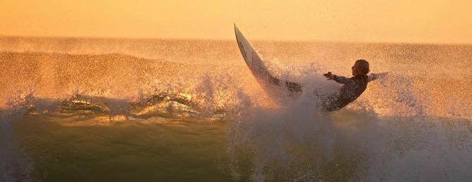 Fistral Beach Surfing