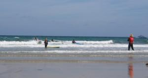 Surfing lesson in St Agnes