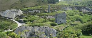 Mining remains around St Agnes