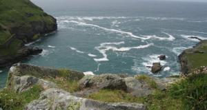 The rugged coastline around Castle Island, Tintagel