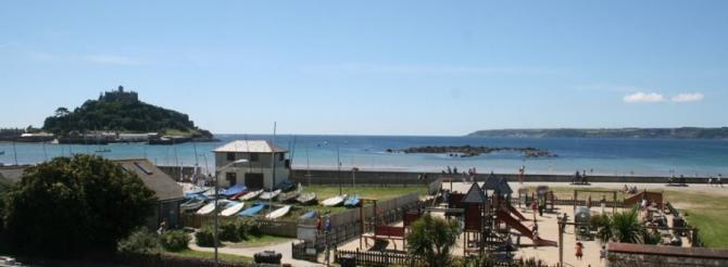 Stay in a Marazion Cottage with views towards St Michael's Mount