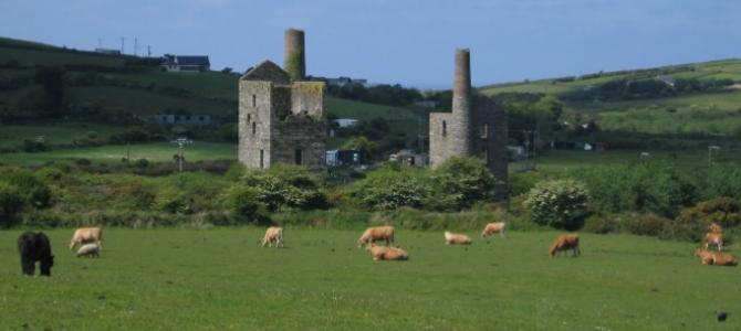Mining remains around Carn Brea near Redruth