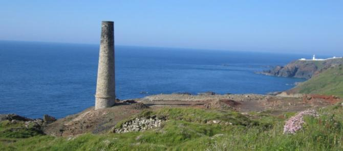 Pendeen Lighthouse & Mining Remains around Levant near St Just
