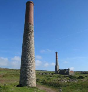 The most westerly of Cornwall's World Heritage mining remains near St Just