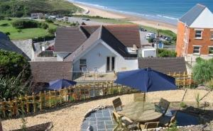 Family apartments with private patios overlooking Woolacombe beach