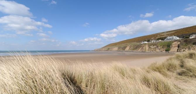Saunton Sands beach near Braunton village