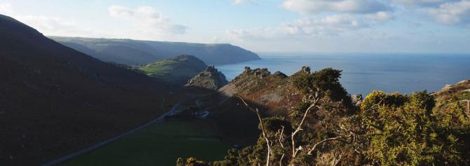 The famous Valley of Rocks near Lynton on the Exmoor Coast