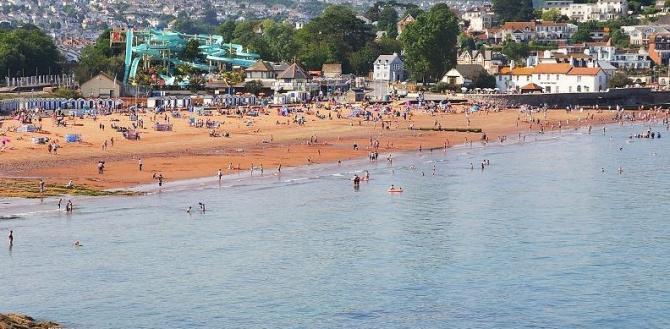 View over Goodrington Beach
