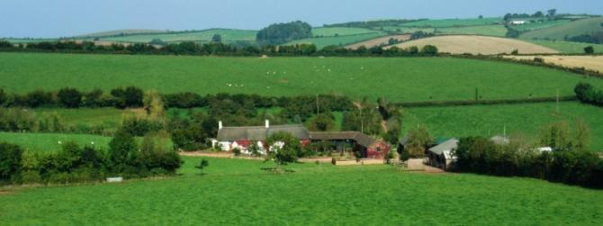 Farmhouse B&Bs & the gentle rolling countryside around Crediton in the Heart of Devon