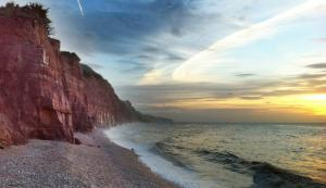 The beautiful red cliffs of the Sidmouth Coast