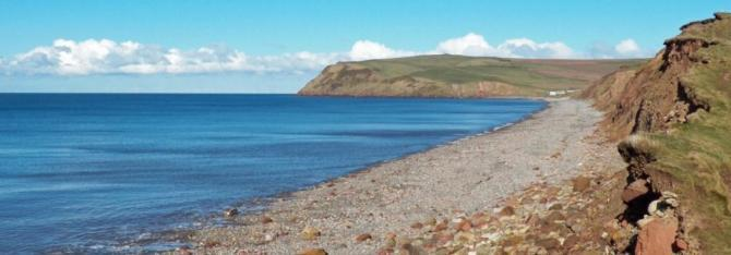 View of St Bees Bay from Seamill Beach