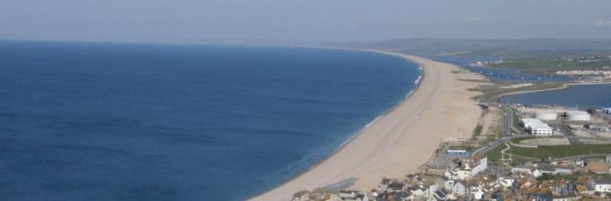 Chesil Beach just west of Weymouth