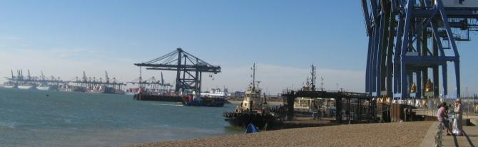 Felixstowe Port viewpoint