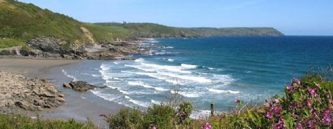 Portholland Beach, Roseland Peninsula, South Cornwall