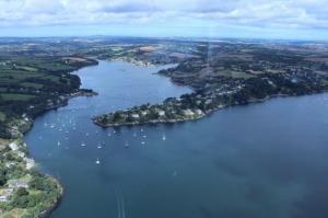 Peninsula aerial view - Lower Penhallow