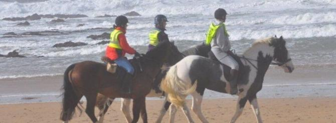 Horse Riding along Freshwater West Beach on the Pembrokeshire Coast
