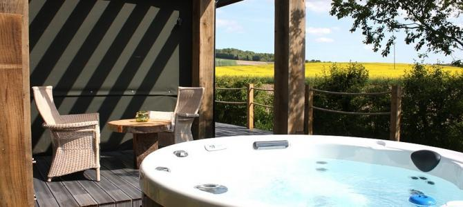 South facing private hot tub at The Chilterns View