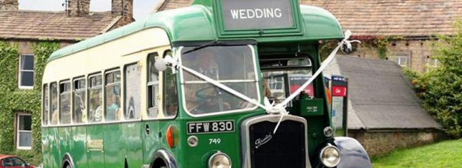 Hire a Vintage Bus for your Dales Wedding Party