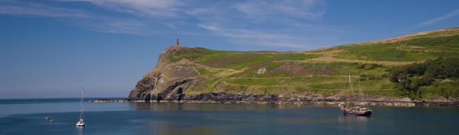 Bradda Head on the Isle of Man Coast near Port Erin