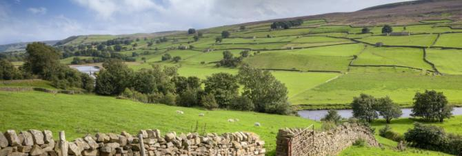 Swaledale in the Yorkshire Dales near Reeth