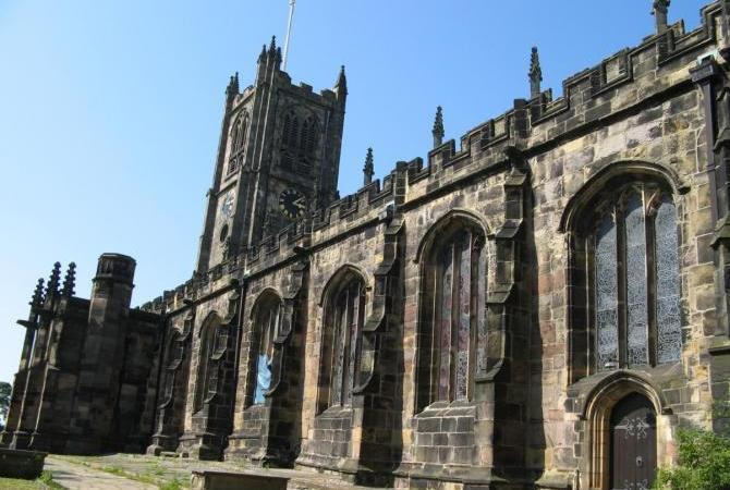 The ancient priory church near Lancaster Castle