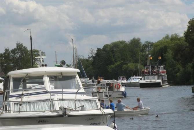 Paddle Boat Trips at Horning, Norfolk Broads
