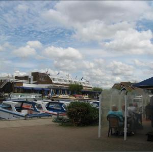 Broadside cafes in Wroxham