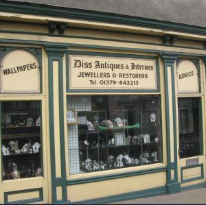 Diss is famous for its antique shops & auction