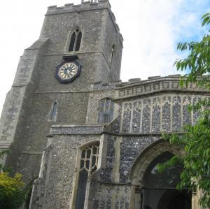 Ancient St Mary's Church in Diss