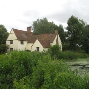 Willy Lott's house, featured in Constable's painting 'The Hay Wain'.