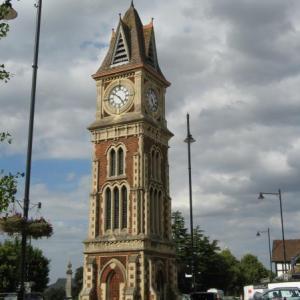 Jubilee Clock Tower in Newmarket built to commemorate Queen Victoria's 1897 Diamond Jubilee