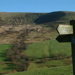 Upper Tarrell Valley in the Brecon Beacons