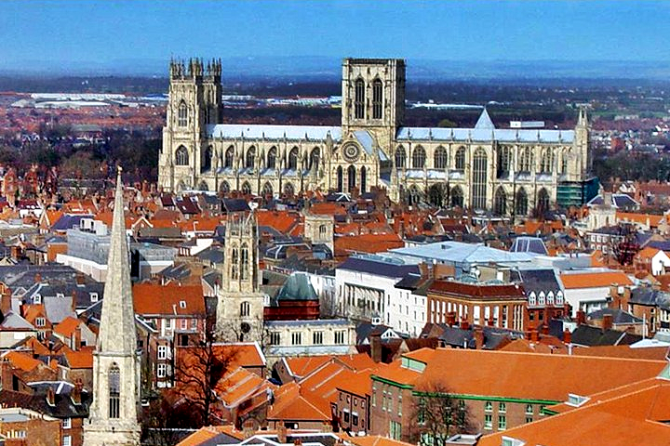 York Minster rising above the York skyline