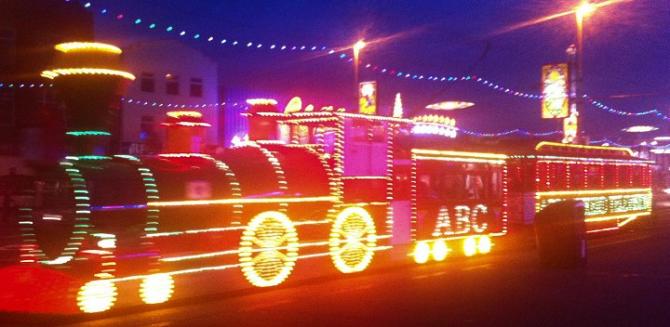 Blackpool Illuminations on the move