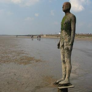 Antony Gormley's 'Another Place at Crosby Beach, Merseyside