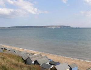 Views across to The Needles on the Isle of Wight