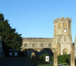 St Michael Parish Church Somerton, partly dating from the 13th century.