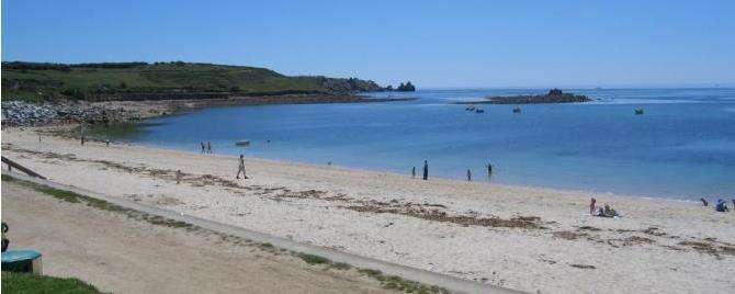 Porthcressa Beach on St Mary's