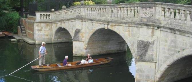Clare Bridge, the oldest bridge in Cambridge