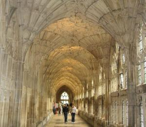 Fan Vaulting Cloisters at Gloucester Cathedral