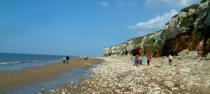 Hunstanton beach cliffs