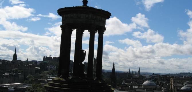 Edinburgh views from Carlton Hill