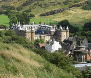 Holyrood Palace Edinburgh - view from Carlton Hill