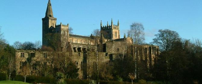 Dunfermline Abbey from the glen