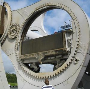 Rotating Falkirk Wheel