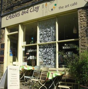 Cobbles and Clay Art Cafe in Haworth