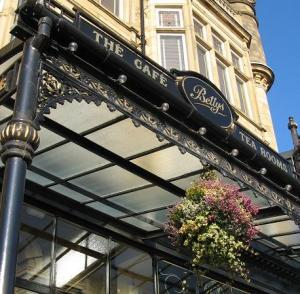 The first Bettys Cafe Tea Room, opened 1919 in Harrogate